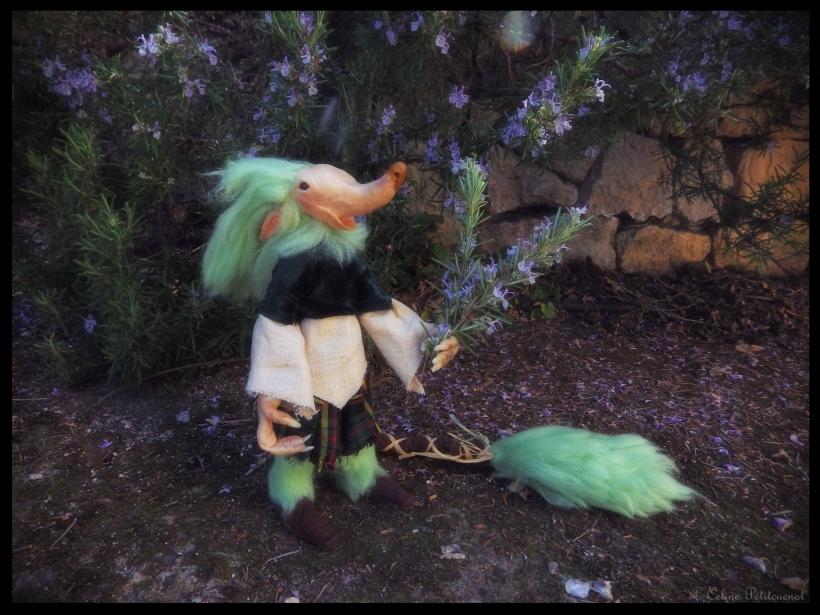 Petit Troll au jardin - Romarin